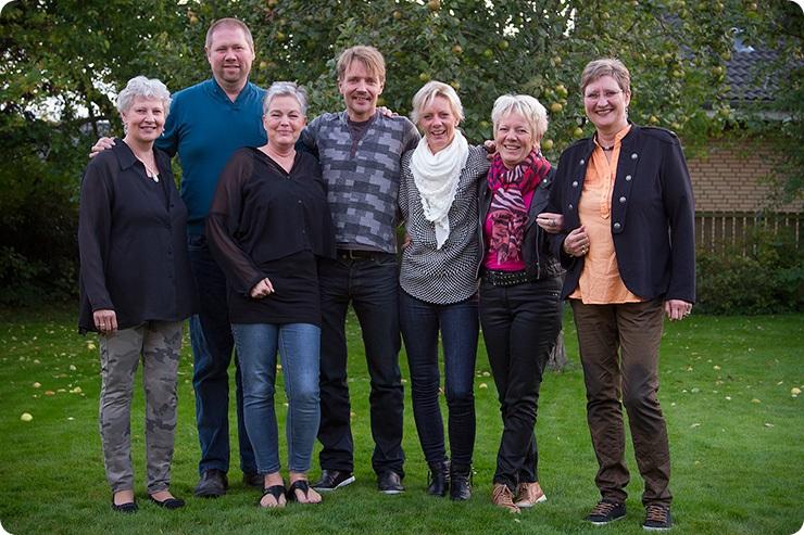 Joan, Bent, Moi, Jan, Lotte, Meyer og Birgitte